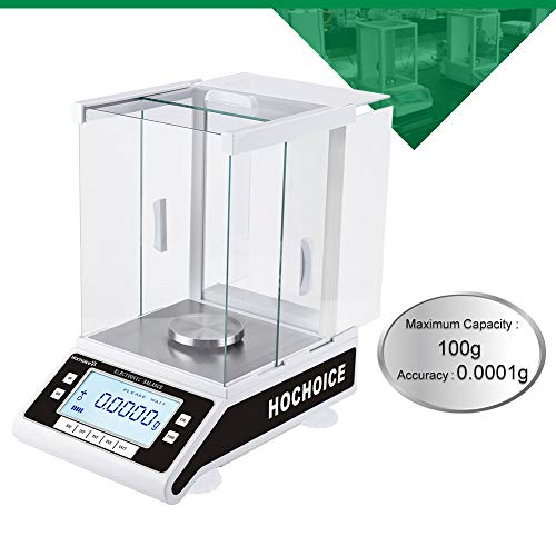 Hochoice RS232 Accuracy:0.0001g 0.1mg Laboratory Digital Analytical Balance High-precision Electronic Scales Industrial Scale Electromagnetic force balance sensor,Capacity:100g,Shipping:around ()