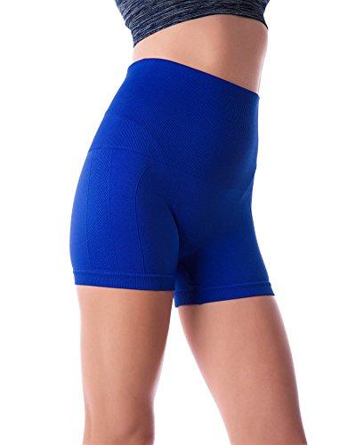 Control Fitness - Homma Women's Tummy Control Fitness Workout Running Bike Shorts Yoga Shorts … (X-Large, Royal 2)