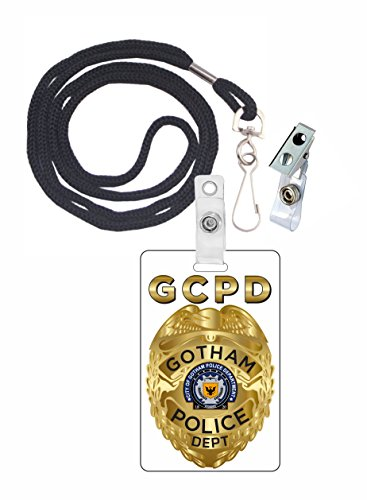 (Gotham, City Police, Novelty ID Badge Film Prop for TV Costume and Cosplay • Halloween and Party)