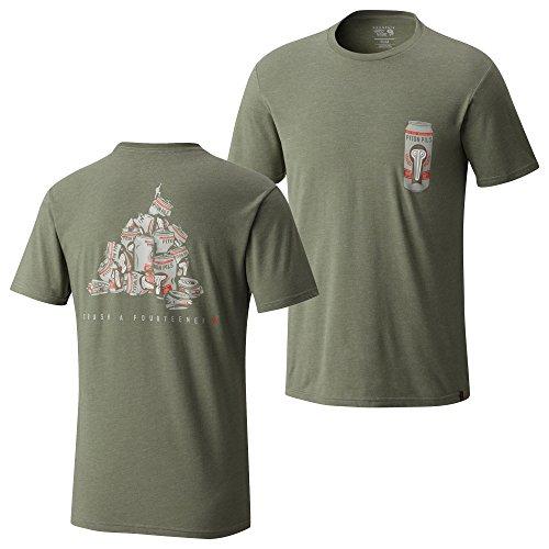 Mountain Hardwear Men's Fourteener Pocket T-Shirt, Heather Green Fade, L