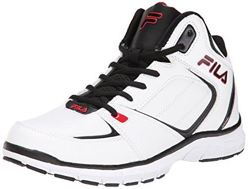 Fila Men's Shake N Bake 3 Basketball Shoe, White/Black/Fila Red, 11 M US
