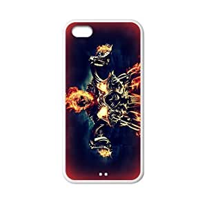 LJF phone case Custom Ghost Rider Back Cover Case for iphone 5C JN5C-067