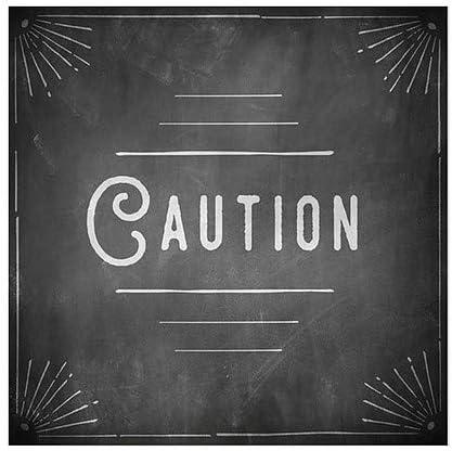 Caution Chalk Corner Window Cling CGSignLab 5-Pack 24x24