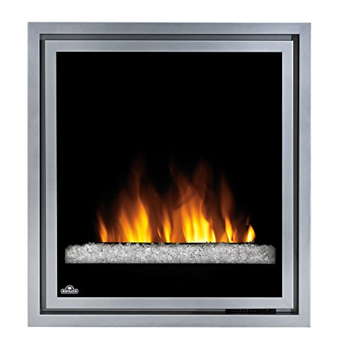 Napoleon EF30G Electric Fireplace Insert with Glass, 30-Inch (Wall Mount Silver Gel Contemporary)