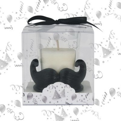 Mustache Baby Shower Candle Favors (Set of 12) Oh My Favors