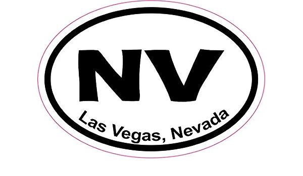 Las Vegas Oval Vinyl Sticker Decal 5x3