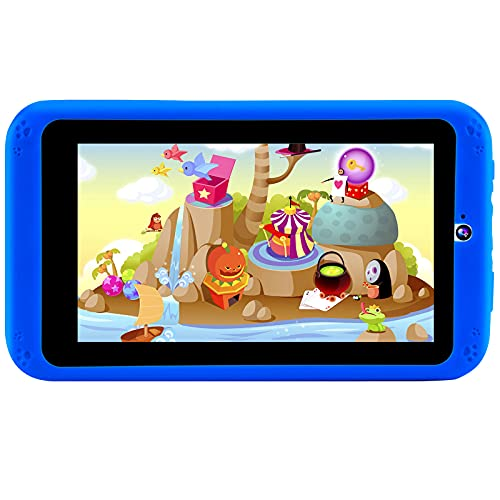 PROGRACE Kids Tablets Android 9.0, 2GB RAM 16GB ROM, 7 inch IPS HD Display, Parental Control, Dual Camera, Pre-Installed Kids Educational APP, Kid-Proof Case, Blue
