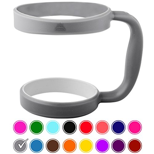 STRATA CUPS Tumbler Handle for Yeti Tumbler, RTIC/Ozark Trail Strata/Other Ramblers Cups, No Slip Grip and BPA Free, 30 oz., Grey