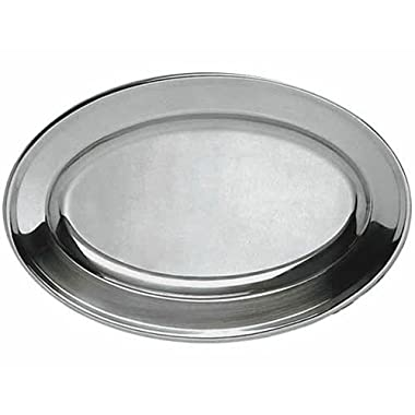 Oval Material Stainless Steel Platters  - 21-3/4  x 14-1/2