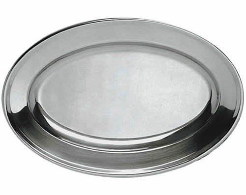 Oval Stainless Steel Platter (Oval Material Stainless Steel Platters  - 21-3/4