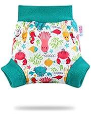 Pantalones cortos de PUL Petit Lulu | Braga de protección | Jersey Up capa | Talla S | Reutilizables y lavables, impermeable, pañales lavables | Fabricado en Europa azul Lagoon