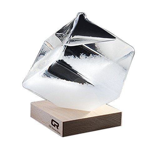Birthday Cube Glass (GR Creative Stylish Desktop Water Cube Storm Glass 17th Century Europe Weather Monitors Weather Forecast Weather Station (Water Cube))