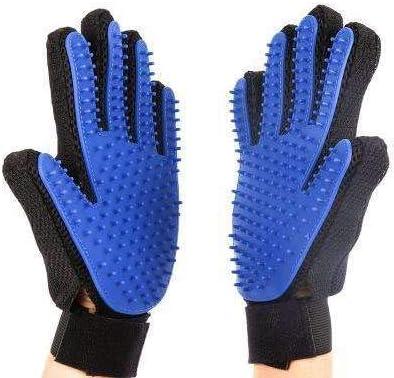 [Limited Edition] PETGO Pet Grooming Glove – Gentle Deshedding Brush Glove – Efficient Pet Hair Remover Mitt – Enhanced Five Finger Design – Perfect for Dog & Cat with Long & Short Fur – 1 Pair