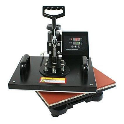 ZENY Heat Press Pro 6in1 Combo Heat Press Machine Digital Multifunction Transfer Sublimation - T-Shirt /Mug /Hat /Plate 15'' x 12'', black (#01) by ZENY
