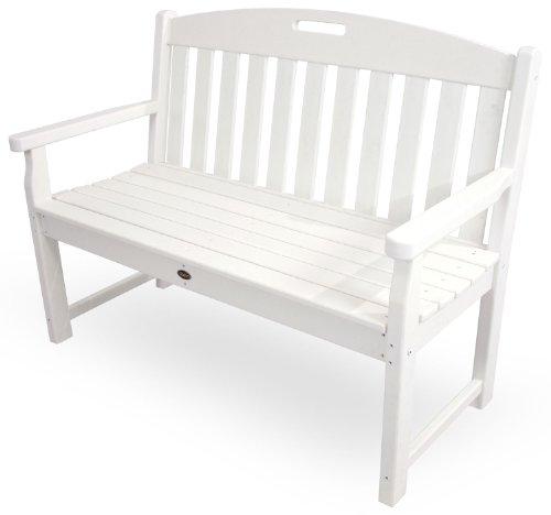 Trex Outdoor Furniture TXB48CW 48-Inch Yacht Club Bench, Classic White by Trex Outdoor Furniture by Polywood