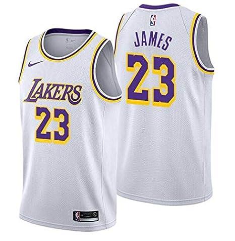 info for c90a8 51ac6 LA Lakers NEW 2019 LeBron James Basketball Jersey NBA Gold Purple White  Black