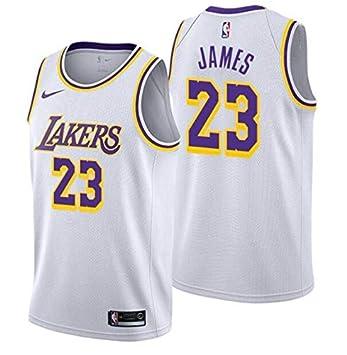 info for baa89 de6bb LA Lakers NEW 2019 LeBron James Basketball Jersey NBA Gold Purple White  Black