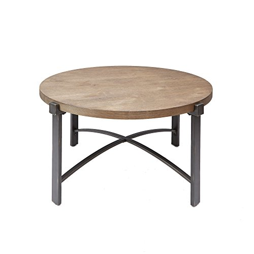 Silverwood FT1276-COF-RWO Lewis Coffee Table with Round Top, 37