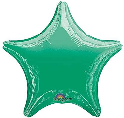 Metallic Green Foil Balloon 19, Anagram 30557 Star