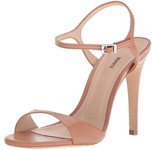 SCHUTZ Women's Jade Heeled Sandal, Toasted Nut, 6.5 M US by SCHUTZ