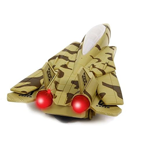 Dazzling Toys Riding Military Airplane Toy with Flashing