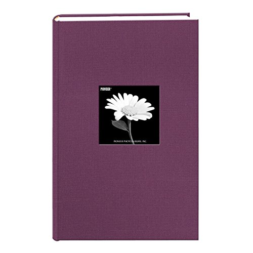 Fabric Frame Cover Photo Album 300 Pockets Hold 4x6 Photos, Wildberry Purple