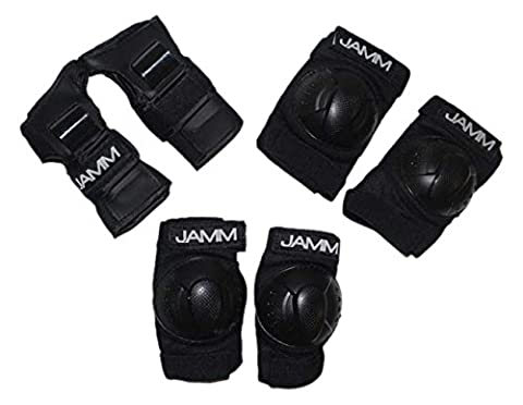 JAMM Kids Hockey Protection-Wrist Guards, Knee & Elbow Pads for Hockey, Cycling, Skating, Boarding, Etc, 3 - Hockey Wrist Guards