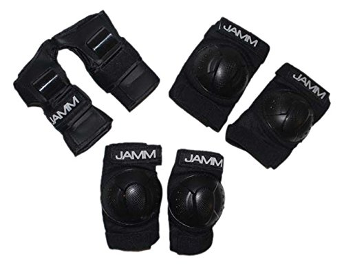 JAMM Kids Hockey Protection-Wrist Guards, Knee & Elbow Pads for Hockey, Cycling, Skating, Boarding, Etc, 3 Piece by JAMM