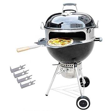 Onlyfire BRK-6023 inox pizza horno paquete completo PizzaRing para Weber 57 cm parrilla hervidor de agua y muchos otros modelos, pizza para carbón de leña ...