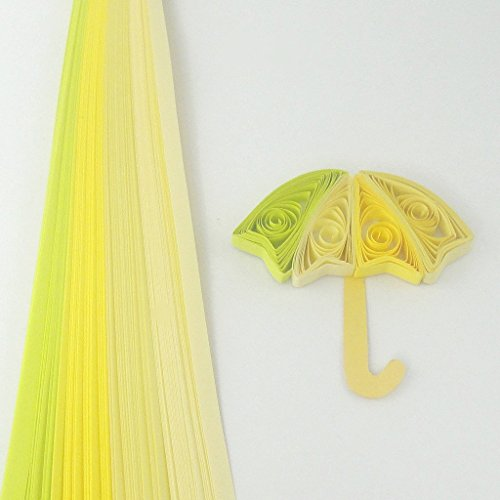 Tones of Yellow - 5 mm - 100 Quilling Strips