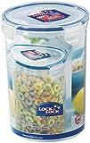Lock & Lock Round Storage Container - Clear/Blue, 1.8 L