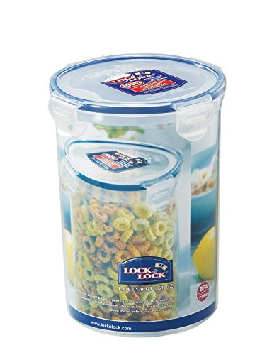 LOCK & LOCK 61-Fluid Ounce Round Food Container, Tall, 7-1/2-Cup