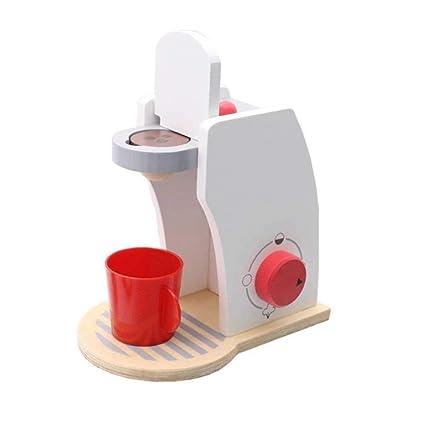 TRULIL Juegos de Juguetes para el hogar Juguetes de Madera Máquina de café Máquina de café