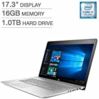 Newest HP Envy 17t 17.3 FHD IPS Laptop, Intel Dual-Core i7-7500U Up to 3.5GHz 16GB DDR 1TB HDD 2GB NVIDIA GeForce 940MX DVDRW B&O Play Audio Backlit Keyboard USB Type-C Win10 (Certified Refurbished)