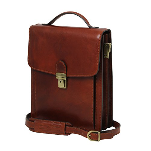 Tuscany Leather David Leather Crossbody Bag - large size Brown by Tuscany Leather (Image #8)