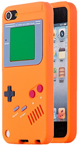 iPod Touch 6th Generation Case, iSee Case (TM) Game Boy Control Silicone Full Cover Case for Apple iPod (Ipod Touch Orange)