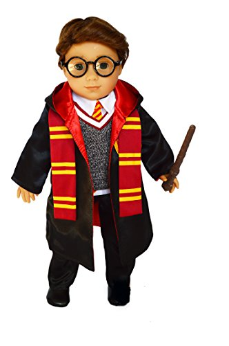 Brittany's Wizard Outfit Compatible with American Girl Boy Dolls- 18 Inch Doll Clothes (Harry Potter 18 Doll)
