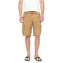 Mossimo Men's Mid Rise Belted Cargo Shorts 11