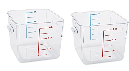 Rubbermaid Commercial Container Carb-X Space Saving, 6-Quart, Clear