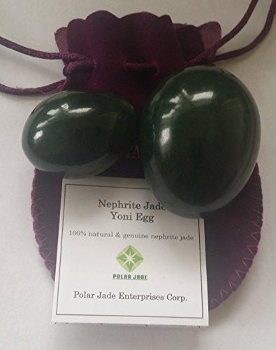Polar Jade Nephrite Jade Eggs for Training Pelvic Floor Muscles (2 Pieces of 2 Sizes)