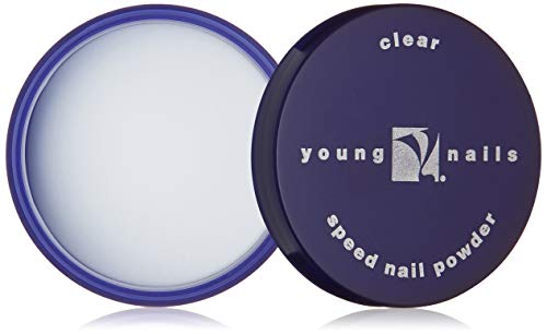YOUNG NAILS Acrlyic Cover Nail Powder, Clear, 85 Gram