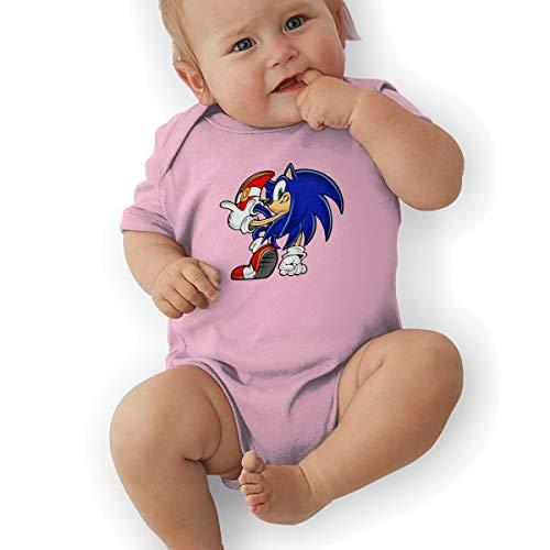 Waterhake Baby Boy Bodysuits, Sonic Hedgehog Baby Girls' Cotton Bodysuit Baby Clothes Pink ()