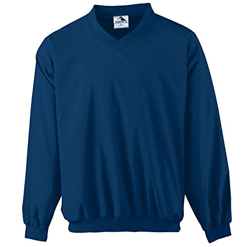 Badger Windshirt (Augusta Sportswear Augusta Micro Poly Windshirt/Lined, Navy, X-Large)