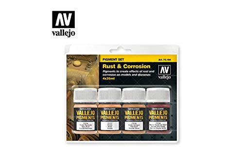 Effect Pigment - Vallejo Rust & Corrosion Pigment Set 4 x 35ml Paint