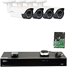 GW 8 Channel H.265 4K NVR 5-Megapixel (2592 x 1520) 4X Optical Zoom Network Video Security System, 4pcs 5MP 1920p 2.8-12mm Motorized Zoom POE Weatherproof Bullet IP Cameras, 120ft Night Vision