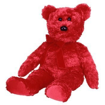 TY Sizzle the Red Bear Beanie Buddy 14