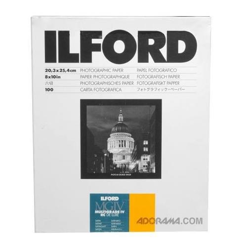 Ilford Multigrade IVRC Satin Deluxe 20,3 x 25,4 cm (8 x 10 Zoll), 100 Blatt