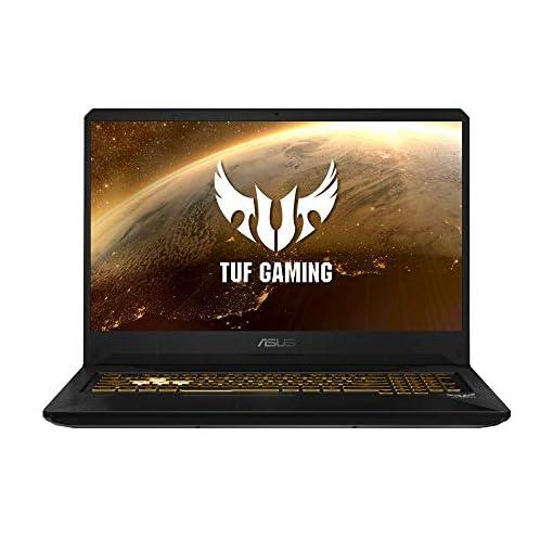 "ASUS TUF Gaming FX705GM-EV020 - Ordenador portátil 17.3"" FHD 144Hz (Intel Core i7-8750H, 16GB RAM, 1TB HDD + 256GB SSD, Nvidia GTX1060 6GB, sin sistema op.) Metal y Oro - Teclado QWERTY Español 1"