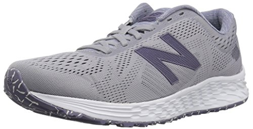 New Balance Women's Fresh Foam Arishi V1 Running Shoe Light Grey/Purple, 9 B US