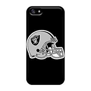MarcClements Apple Iphone 5/5s Shock-Absorbing Hard Cell-phone Cases Support Personal Customs Stylish Oakland Raiders Series [eQM16222OsGC]